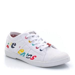 Zapatillas deportivas lona 100% algodón, multicolor, con cordones LE TEMPS DES CERISES