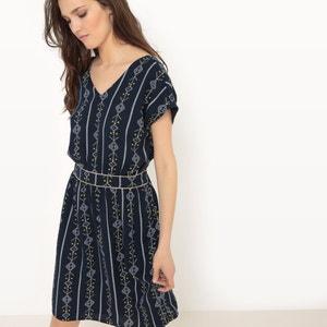 Bedrucktes knielanges Kleid mit kurzen Ärmeln VERO MODA