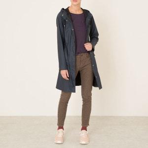 Veste longue imperméable capuche et ceinture RAINS