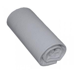 Drap Housse Bébé 100% Coton Gris - Bonnet 15 cm TERRE DE NUIT
