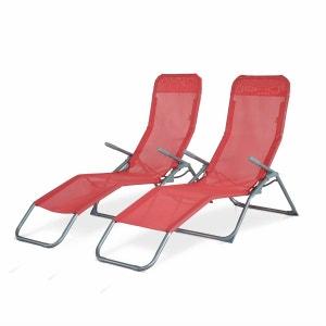 Chaise longue transat en solde la redoute for Transat bain de soleil en solde