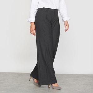 Pantalón ancho con pinzas de franela CASTALUNA