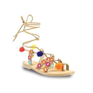 Skórzane płaskie sandały Orea LES TROPEZIENNES PAR M.BELARBI