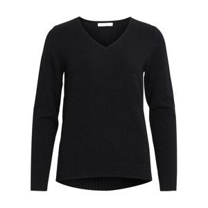 Fine-Knit V-Neck Jumper/Sweater VILA