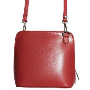 Petit sac bandoulière cuir rouge CHAPEAU-TENDANCE