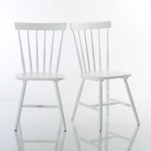 chaise noir et blanc la redoute. Black Bedroom Furniture Sets. Home Design Ideas