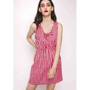Korte jurk zonder mouwen met strik aan de V-hals COMPANIA FANTASTICA