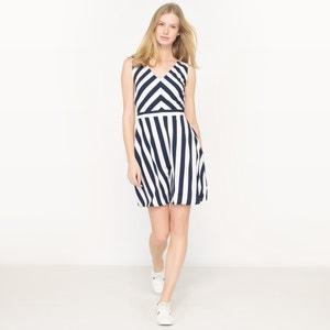 Sleeveless Striped Dress with V-Neckline MOLLY BRACKEN