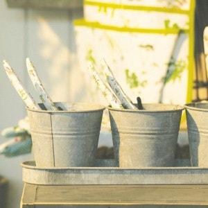 Set 3 pots de fleur en zinc ESSCHERT DESIGN