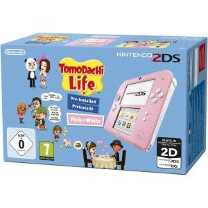 Console Nintendo 2DS Rose & Blanc - Pack Tomodachi Life 2DS NINTENDO