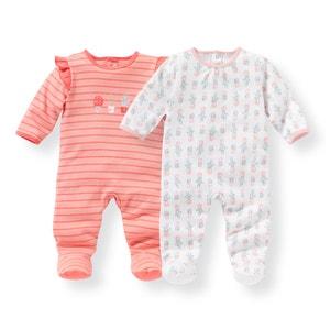 Pijama de algodón estampado 0 meses - 3 años (lote de 2) R mini