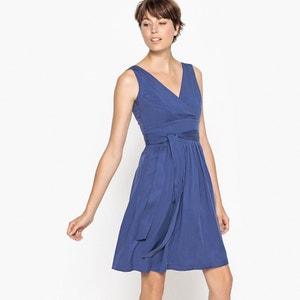 Ärmelloses Kleid mit Leinenanteil und Rückenbindung MADEMOISELLE R