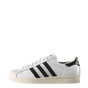 Superstar Dlx Cuir Blanc Contraste Ecru Noir pour homme adidas Originals