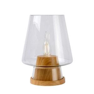 GLENN - Lampe à Poser Verre/Bois H25cm - Lampe à poser Lucide designé par LUCIDE