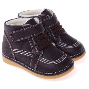 Chaussures à sifflet   Montantes fourrées marron CAROCH