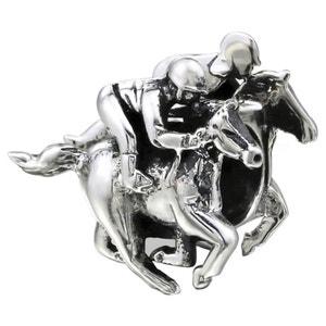 Charm Perle Jockey Cheval Course Equitation Argent 925 - Compatible Pandora, Trollbeads, Chamilia, Biagi SO CHIC BIJOUX