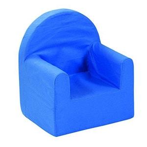 Fauteuil club en mousse polyester bleu enfant DELTA