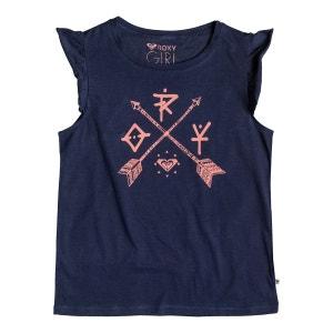 T-shirt imprimé à manches volantées 8-16 ans ROXY