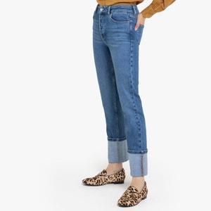 Rechte jeans met hoge taille