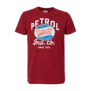 Effen T-shirt met ronde hals en korte mouwen PETROL INDUSTRIES