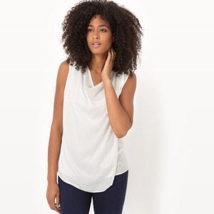 Blusa 2 en 1, cuello drapeado atelier R