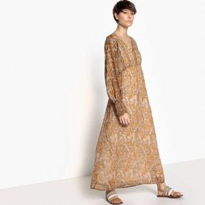 Vestido largo bohemio estampado cachemir La Redoute Collections