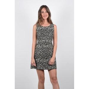 Krótka wzorzysta sukienka, rozkloszowana MOLLY BRACKEN