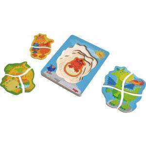 Puzzle en bois Dragons adorés HABA