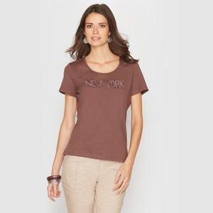 T-shirt, motief in stras ANNE WEYBURN