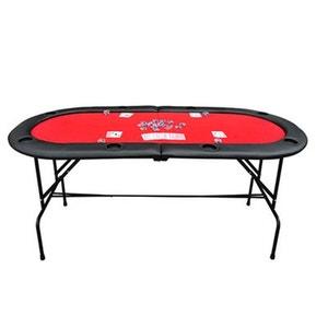 Table avec pied plateau de poker casino ovale pliable pour 8 joueurs - HOMCOM HOMCOM