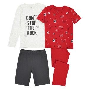 Lot pyjama long + pyjashort 3-12 ans La Redoute Collections