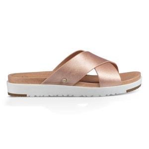 Leather Open Toe Platform Mules UGG