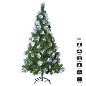 Sapin de Noël artificiel Floqué - H. 180 cm - Vert et blanc FEERIE CHRISTMAS