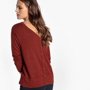 Jersey con botones detrás, lana La Redoute Collections