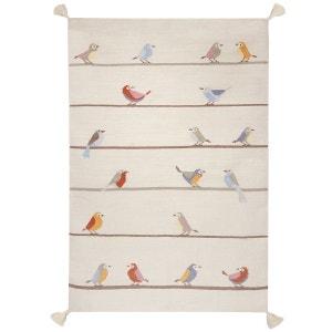 Tapis beige Kilim Petits Oiseaux ART FOR KIDS