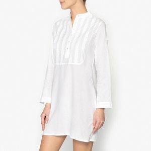 Camisa de dormir com escapulário bordado La Redoute Collections