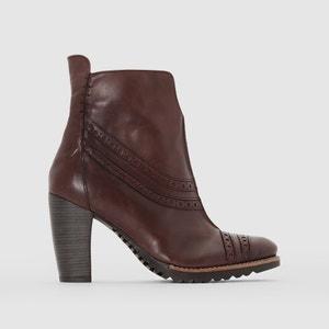 Boots in leer met hak, Harley DKODE