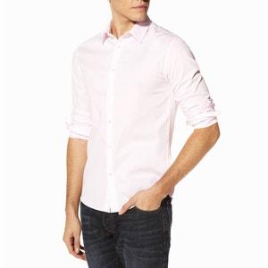 Рубашка приталенная с длинными рукавами, из стрейч поплина Jasantal 2 CELIO