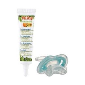 NÛBY Le lot gel dentaire All Natural 15 g et accessoire pour les dents soins dentaires bébé NUBY