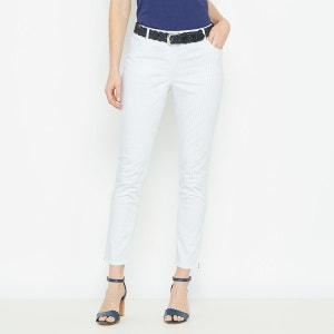 Pantalon 7/8ème, satin de coton stretch ANNE WEYBURN