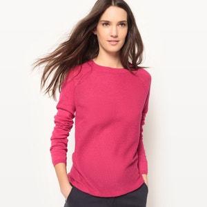 Pullover mit Rundhalsausschnitt aus Baumwolle und Leinen La Redoute Collections