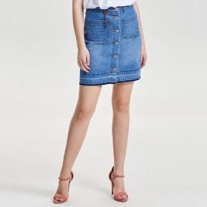 Jupe en jean boutonnée ONLY