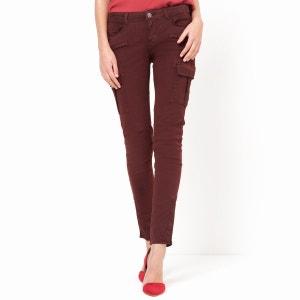 Pantalón HARPER, corte slim, bolsillos de parche en los muslos. CIMARRON