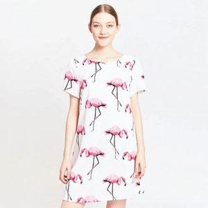 Vestido con estampado de flamenco rosa MIGLE+ME
