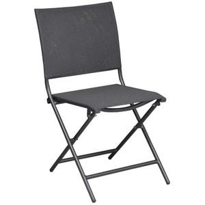 Chaise pliante en acier et toile Globe (Lot de 6) PROLOISIRS