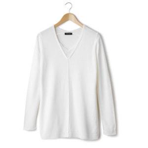 Jersey-túnica cuello pico punto fino LES PETITS PRIX