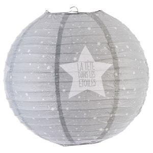 Lanterne boule imprimée - Diam. 35cm. - Gris ATMOSPHERA