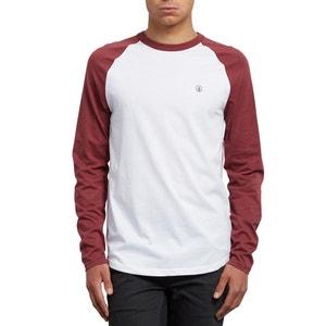 T-shirt con scollo rotondo tinta unita, maniche lunghe VOLCOM
