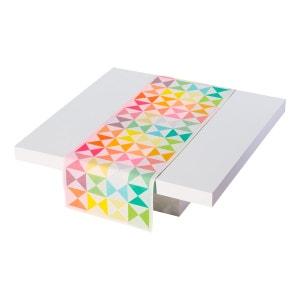 Vis-à-vis réversible Origami Multico 50x150 100% coton LE JACQUARD FRANCAIS