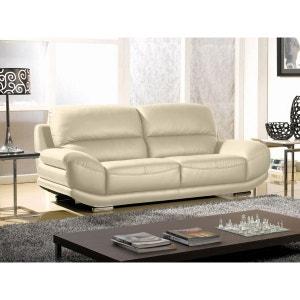 canape cuir beige la redoute. Black Bedroom Furniture Sets. Home Design Ideas
